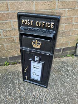 Er Royal Mail Black Poste Box Cast Iron Wall Mount Lettre Fente Verrouillable