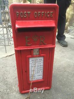 Er Royal Mail Post Box Cast Bureau Fer Boîte Postale Boîte Postale Rouge Britannique Boîte Aux Lettres