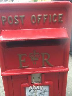 Er Royal Mail Post Box Cast Iron Post Box Post Office Box Boîte De Lettres Britannique Rouge