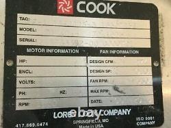 Fan Commercial Wall Mount Par Loren Cook Company 115v 70 Acwh 70w15dh Nouveau