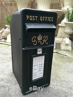Fonte Gr Boîte Postale Royal Mail Boîte Postale Vintage Noir Boîte Postale Noire