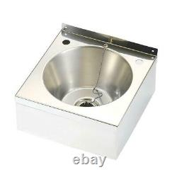 Franke Wall Mounted Commercial Wash Basin Sink + Tap Hole S- Steel Kitchen Royaume-uni