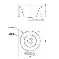 Franke Wall Mounted Wash Basin + 2 Robinets 1 Bol 340x345mm Évier De Cuisine Commerciale
