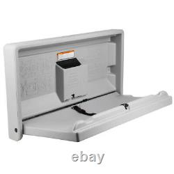Gamco Baby Restroom Changing Station Table Wall Mount Gray Commercial Bathroom