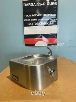 Halsey Taylor Fountain D'eau Potable Sur Mur Commercial S/acier