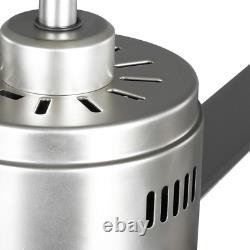 Hubbell Industrial 72. Ventilateur Intérieur/extérieur De Plafond Double De Support De Nickel Avec Le Mur