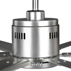 Hubbell Industrial 96 In. Ventilateur De Plafond Intérieur/extérieur Nickel Dual Mount Avec Mur