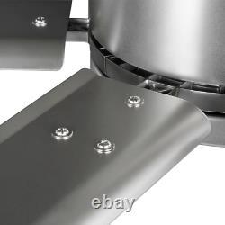 Hubbell Industrial 96 Po. Ventilateur De Plafond À Double Montage Nickel Intérieur/extérieur Avec Mur