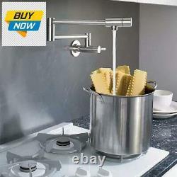 Imlezon Pot Filler Robinet En Acier Inoxydable Mur Commercial Mount Kitchen Sink Fau