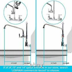 Jzbrain Commercial Sink Kitchen Robinet 8 Inch Center Wall Mount Robinet 36 Inc