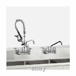 Jzbrain Commercial Wall Mount Kitchen Sink Robinet Avec Pull Down Pre-rinse Sp