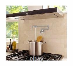 Jzbrain Pot Filler Robinet Mur Mount Stainless Steel Pot Remplisseur Extensible D