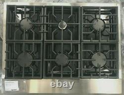 Kitchenaid Kgcu467vss 36 Gaz Commercial 6 Brûleurs Et Table De Cuisson Hotte