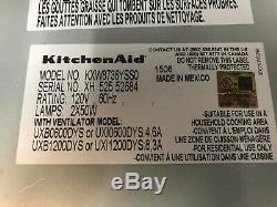 Kitchenaid Kxw8736yss Style Commercial 36 Pour Montage Mural 600-1200 Cfm Cnopy Capot Ss