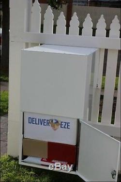 Livraison De Colis Sécurisé En Acier Inoxydable Boîte Aux Lettres Grande Verrouillage De Clôture