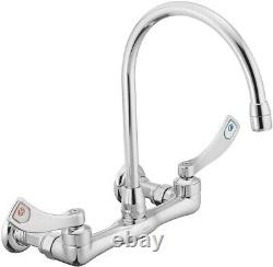 Moen 8126 Commercial M-dura Two-handle Wall Mount Utility Robinet 2.2 Gpm, Chrome