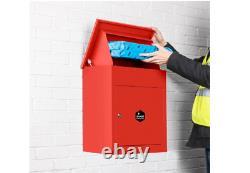 Montage Mural Intelligent Parcel Drop Box Rouge Pour Les Livraisons Multiples Sécurisés Grand Rouge