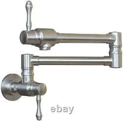 Mstjry Pot Remplisseur Robinet Mur Mount Stainless Steel Commercial Kitchen Faucet Do