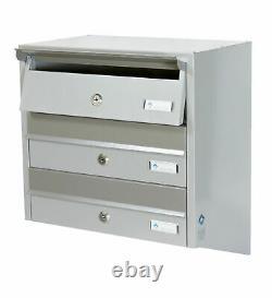Multiple Postbox 4x Multi Occupation Intérieur Ou Extérieur Boîte Aux Lettres Boîtes Aux Lettres