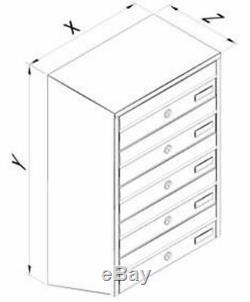 Multiple Postbox 5x Multi Occupation Intérieur Ou Extérieur Boîte Aux Lettres Boîtes Aux Lettres