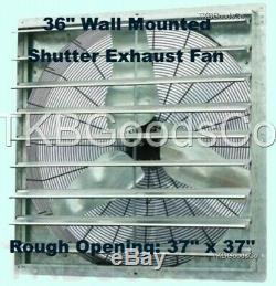 Mur Fan D'échappement Commercial Mont Shutter 36 Monovitesse À Effet De Serre Atelier