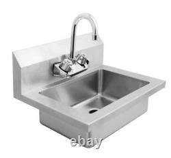 Nouveau 18 Hand Wash Sink Wall Mount & Faucet Atosa Mrs-hs-18 #8435 Commercial Nsf