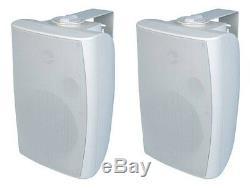 Nouveau (2) 6.5 70v Intérieur Extérieur Blanc Haut-parleurs. Wall Mount Paire. Une Saine Gestion Commerciale