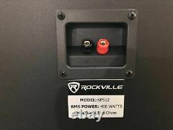 Paire Rockville Kps12 12 1600w Haut-parleurs Muraux +amplificateur Pour Restaurant/bar/café