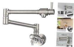 Pot Filler Faucet Wall Mount Stainless Steel Commercial Pot Filler 5.5 Gpm Heav