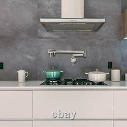 Pot Filler Robinet Wall Mount Single Hole Commercial Stainless Steel Kitchen Sin