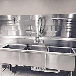 Robinet Commercial Mstjry Avec Pulvérisateur De Traction Vers Le Bas 8 Pouces Centre Mur Mount Kitchen