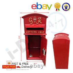 Rolson Gr Post Box Cast Iron Post Box Red British Mailbox Large Floor Mounting