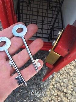 Royal Mail Post Box Er Poste Britannique Machan Ecosse & Cage Chubb Lock 2 Keys
