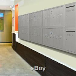 Salsbury Verticale Parcel Locker Mur 4 Portes Mont Aluminium Usps Boîte Aux Lettres De Verrouillage