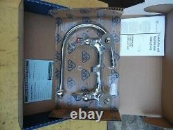 T & S B-0230-134xa-cr 8 Wall Mount Commercial Faucet 1/2 Npt P. Chrome Nouveau