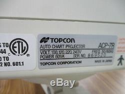 Topcon Acp 7 Auto Wall Chart Commercial Projecteur Vision Examen Mont Optométrie