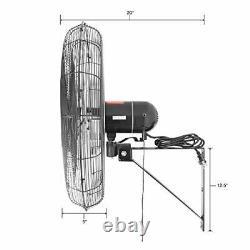 Ventilateur Commercial 9500 Cfm À Haute Vitesse Du Mur Oscillant Intérieur De 30 Pouces
