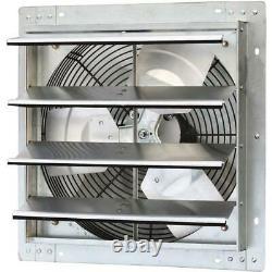 Ventilateur Commercial Vent 1200 Cfm Ventilation Gable Mount Shutter Louvers Nouveau