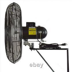 Ventilateur Oscillant Industriel Monté Par Mur 24 Ventilateurs Commerciaux Extérieurs Intérieurs Noirs