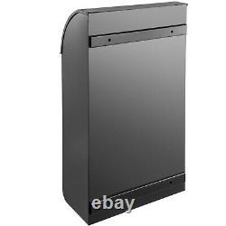 Vevor Steel Extra Large Wall Mount Verrouillage Papier Extérieur Mail Boîte Noire Drop Box