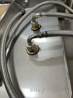 Wall Mount Hand Wash Sink Restaurant Commercial Éclaboussures Latérales En Acier Inoxydable