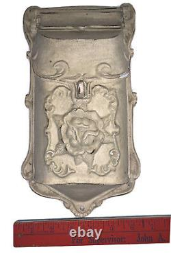 Wall Mount Mail Box Solid Metal Cast Iron Top Flip Et Front Lock Vintage