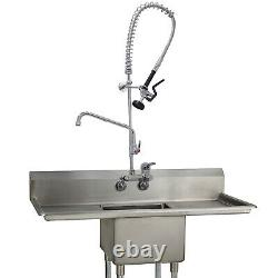 Yoogyy Wall Mount Commercial Kitchen Robinet 4-8 Inch Center Pré-rinçage Sprayer